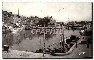 Modern Postcard Honfleur The Vieux Bassin Boat