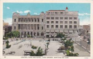 Cuba Santiago De Cuba Central Park and Hotel Curteich