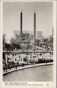 1939 New York World's Fair Hall of Communication Real Photo Postcard