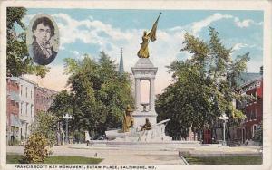 Francis Scott Key Monument Eutaw Place Baltimore Maryland 1920