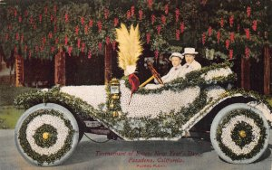 Tournament of Roses, Pasadena, CA Floral Parade Float Car ca 1910s Postcard