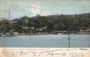 Lake And Swiss Cottage, Rocky Glen, SCRANTON, Pennsylvania, PU-1907