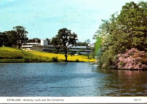 Scotland Stirling Airthrey Loch and The University