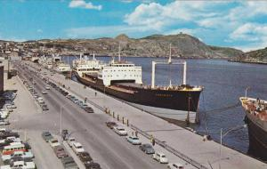 Ship at wharf , ST JOHN'S , Newfoundland , Canada , 50-60s