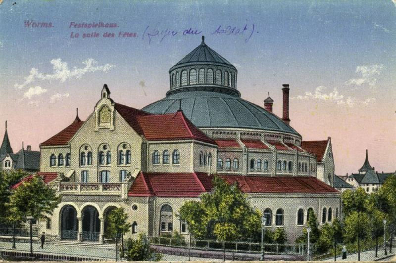 germany, WORMS, Festspielhaus, Theater (1910s)