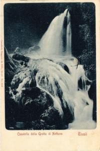 CPA TIVOLI Cascatella della Grotta di NETTUNO ITALY (545508)
