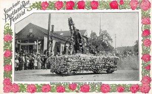 LPS60 Portland Oregon Rose Festival Decorated Vehicle Parade Float Postcard