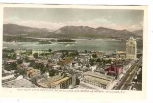 RP, View From Hotel Vancouver Showing Lions Gate Bridge & Harbor, Vancouver, ...