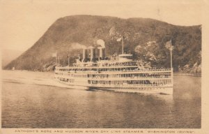 Anthony's Nose & Hudson River Day Line Steamer WASHINGTON IRVING, 1900-10s