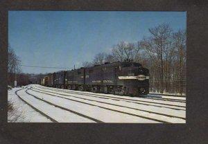 NY New York Central Railroad Train 1075 Mechanicsville Yard Postcard Alco FA'S