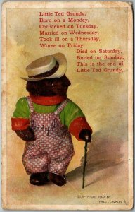 1910s Artist-Signed FRED CAVALLY Postcard Little Ted Grundy… / Denver Post Ad