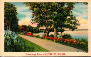 Washington Greetings From Colville