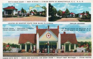 12684 Pat's  Cabin Court & Texaco Gas Station, Bennettsville, South Carolina