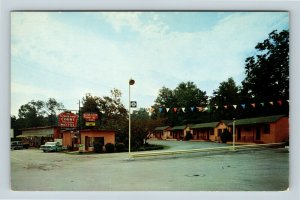 Chattanooga TN, Kingwood Courts Motel, 1958 Chevy, Chrome Tennessee Postcard