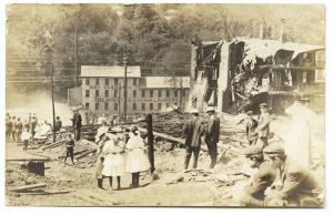 Winsted CT Steam Laundry Dry Cleaners Fire Disaster RPPC Real Photo Postcard