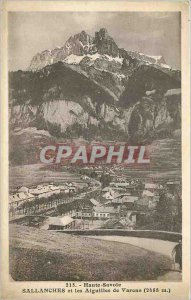 Old High Postcard Savoie Sallanches and vares Needles 2488m
