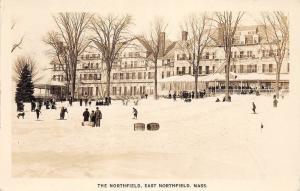 C79/ East Northfield Massachusetts Ma RPPC Postcard 1938 Northfield Hotel