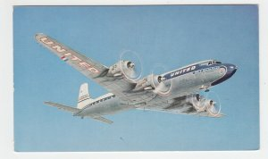 P2134, vintage postcard united airlines great new DC-7 mainliner airplane