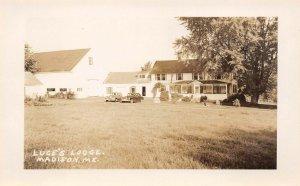 LP47  Madison  Maine Luce's Lodge  RPPC Postcard