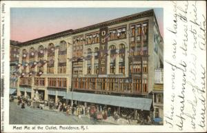 Providence RI The Outlet c1905 Postcard COPPER WINDOWS