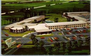 Des Plaines, IL Postcard O'HARE INN Airport Motel Artist's View c1960s Unused