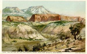 NM - Fort Wingate Area, Continental Divide   Artist Signed: Mary Leeds Fulton
