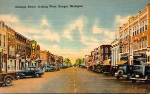 Michigan Sturgis Chicago Street Looking West