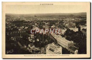 Old Postcard L & # 39Auvergne Panorama Royat and Clermont Ferrand
