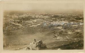 Tlemcen Algeria Africa~Sepia Real Photo Postcard~Vue Generale~Aerial View c1915