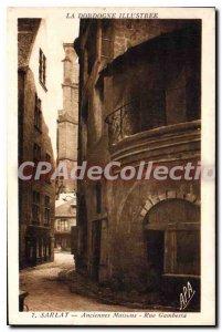 Postcard Old Sarlat Old Houses Rue Gambetta