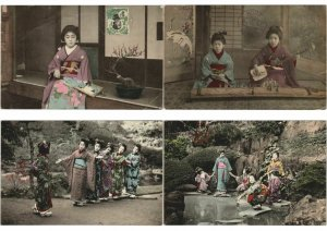 JAPAN JAPON GEISHA GIRLS 50 CPA Pre-1940 with BETTER (L3049)