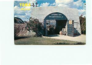 Postcard Yuma Prison Arizona Entrance Gattling Gun Wild West Prison  # 4303A