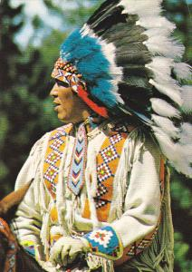 Canada North American Indian In Traditional Head-Dress