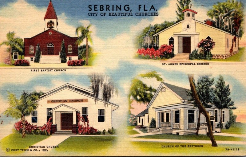 Florida Sebring First Baptist Church Christian Church St Agnes Episcopal Chur...