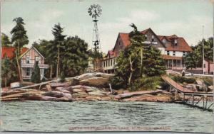 Uneeda Rest Sparrow Lake Muskoka Ontario ON c1903 Antique Postcard E16