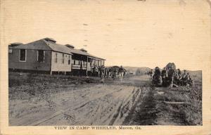 Macon Georgia~Camp Wheeler~Barracks~Rutted Dirt Road~Soldiers~Branch 1918 PM