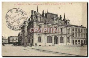 Old Postcard Bank Valenec Caisse d & # 39Epargne Post and condition Silks