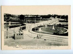 235596 FRANCE TOURS Rabelais square TRAM Vintage postcard