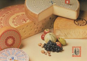 Emilio Carniceria Swiss Cheese Switzerland Advertising Postcard