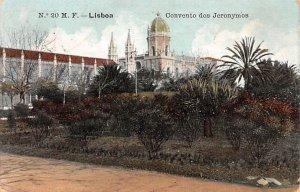 Convento dos Jeronymos Lisboa 1910 Missing Stamp