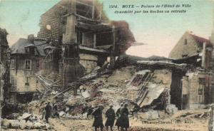 CPA ROYE Ruines de l'Hotel de Ville dynamite par les Boches en retrai (121360)