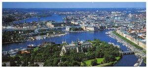 Panoramic Size Sweden Postcard The East Side of Stockholm OS43
