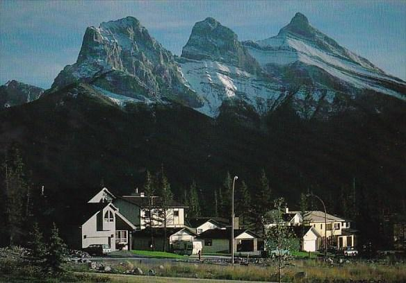 Canada The Three Sisters Mountain Canmore Calgary Alberta