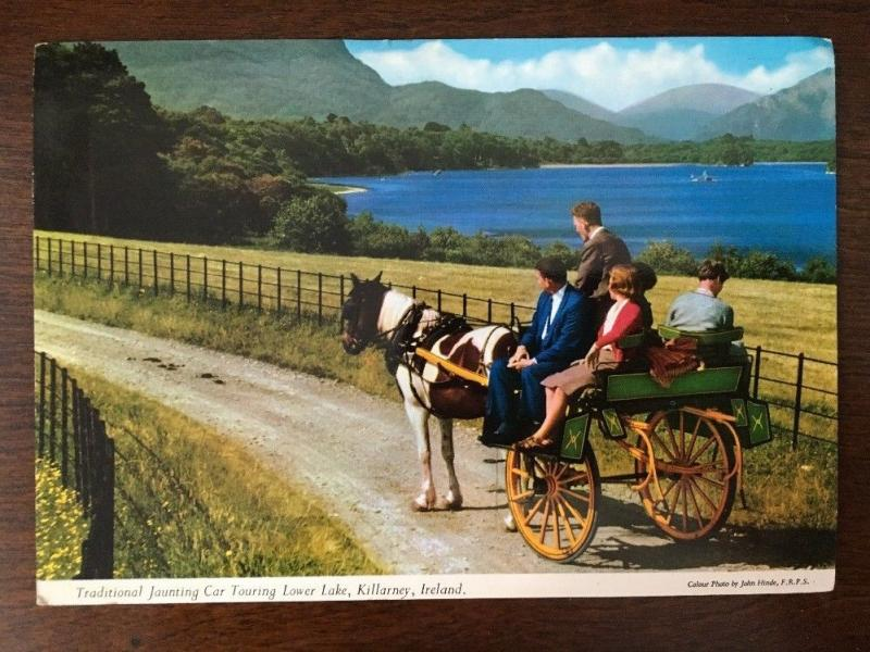 Killarney, Ireland - Traditional Jaunting Car Touring Lower Lake. 1968  A7