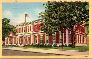 West Virginia Parkersburg Post Office Curteich