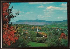 Vermont Stowe and Mount Mansfield Panoramic View 1992
