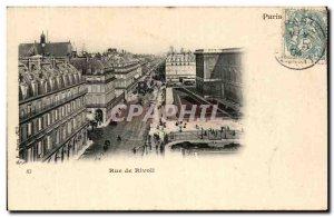 Paris Postcard Old Rue de Rivoli
