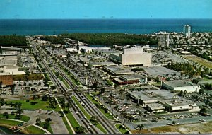 Florida Fort Lauderdale Aerial View Sunrise Shopping Center 1965