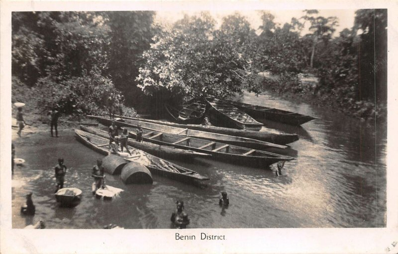 Lot140 benin district boat real photo africa
