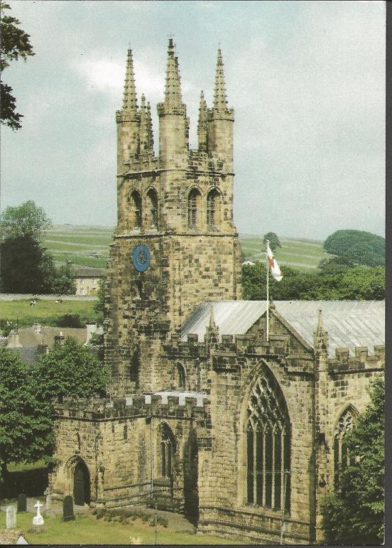 Postcard TIDESWELL St John the Baptist Church Cathedral of the Peak Derbyshire
